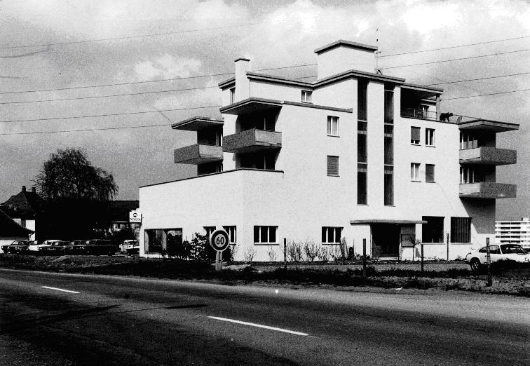 Bau Werkstattgebäude inkl. Mehrfamilienhaus oberhalb der Werkstatt 1973