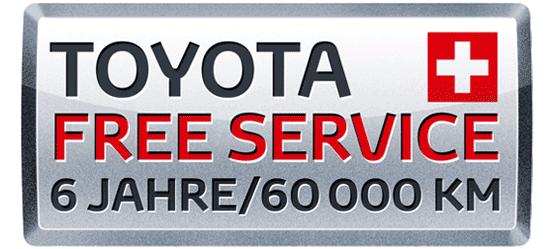 Toyota gratis Service