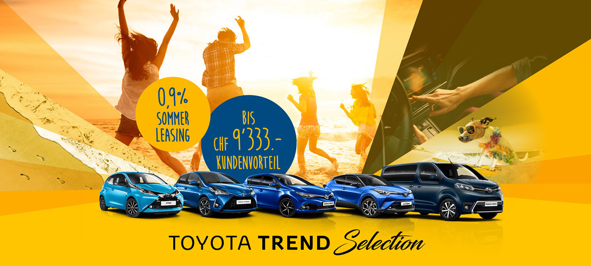 Toyota Promotion Trend Selection
