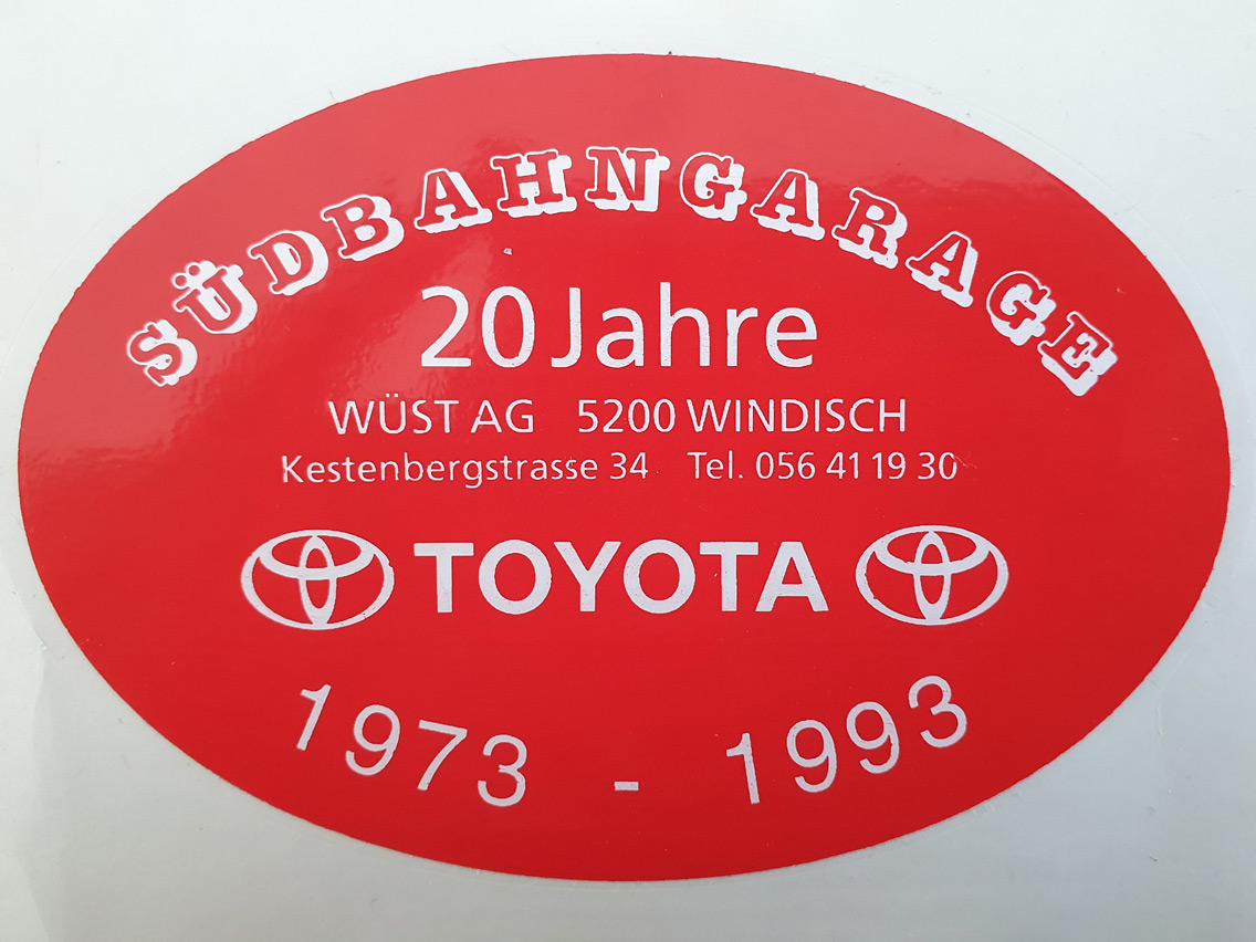 20 Jahre Jubiläum - Südbahngarage Wüst AG