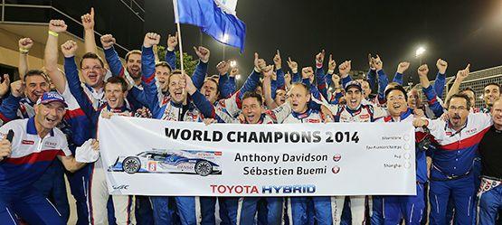 Toyota Motorsport Geschichte Toyota ist Weltmeister