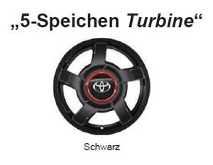 Alufelge 5-Speichen Turbine 4.5x15 Aygo [B40] PZ4L2-90670-ZB