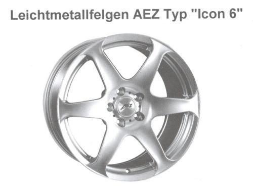 Alufelge AEZ Icon-6 7x17 Corolla [E12] 05003-2S420