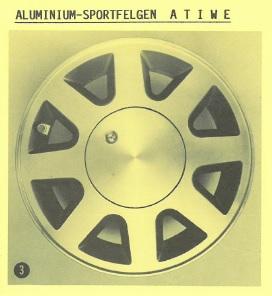 Alufelge ATIWE 5.5x13 Starlet [EP71/EP81] Corolla [E80/E90] 42611-V5533-8
