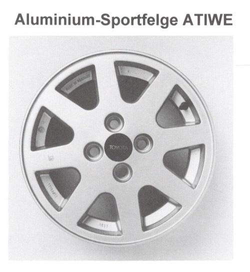 Alufelge ATIWE 6x14 Corolla [E80] 42611-14092-83