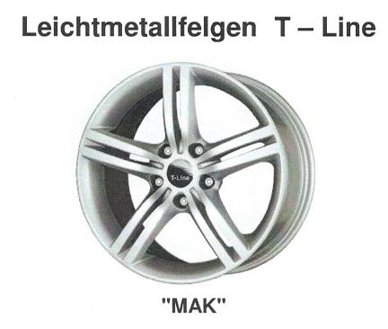 Alufelge MAK T-Line 5.5x14 Aygo [B10] 05003-35514-35