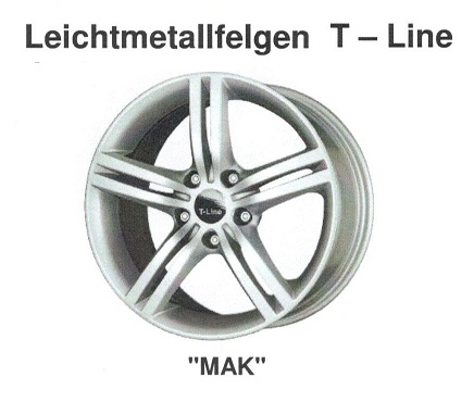 Alufelge MAK T-Line 6x15 iQ 05003-36154-45