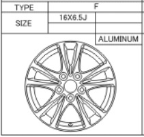 Alufelge Original 6.5x16 Avensis [T27] Verso [R20] 42611-YY401