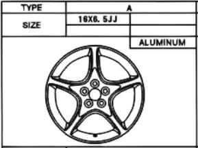 Alufelge Original 6.5x16 Celica [T23] 42611-2B290