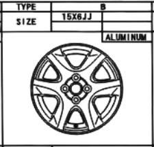 Alufelge Original 6x15 Corolla [E12] Corolla Verso [E12] 42611-13130