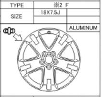 Alufelge Original 7.5x18 RAV4 [A30] Runflat 42611-42230