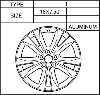 Alufelge Original 7.5x18 RAV4 [A40] 42611-42561