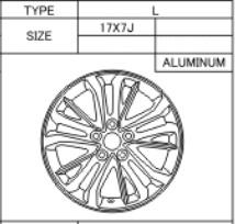 Alufelge Original 7x17 Avensis [T27] 42611-05410