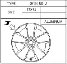 Alufelge Original 7x17 Prius [W30] 42611-47210