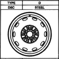 Stahlfelge Original 5.5x14 Carina E [T19] 42611-05010