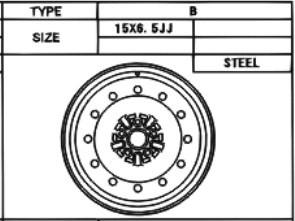 Stahlfelge Original 6x15 Celica [T23] 42611-2B270