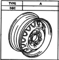 Stahlfelge Original Grau 5.5x15 Camry [SV10] Celica [ST185] 42611-32160-03