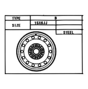 Stahlfelge Original Schwarz 6x15 Camry [SV10] Camry [XV20] MR2 [W20] 42611-33011