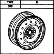 Stahlfelge Origina Silber 5.5x1 Liteace 42611-28310-03