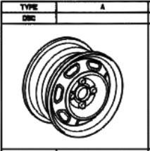 Stahlfelge Original Silber 5.5x14 Previa [R20] Model-F Liteace 42611-14271-03