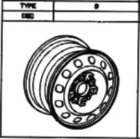 Stahlfelge Original Silber 6.5x15 Celica [ST185] 42611-20670-03