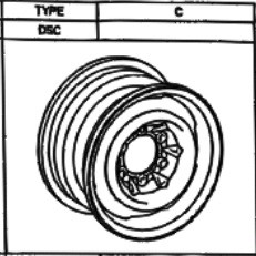 Stahlfelge Original Silber 6.5x16 Hiace [RZH109] 42601-26290-03