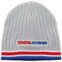 Strickmuetze Grau-Blau Hybrid-Racing TH013