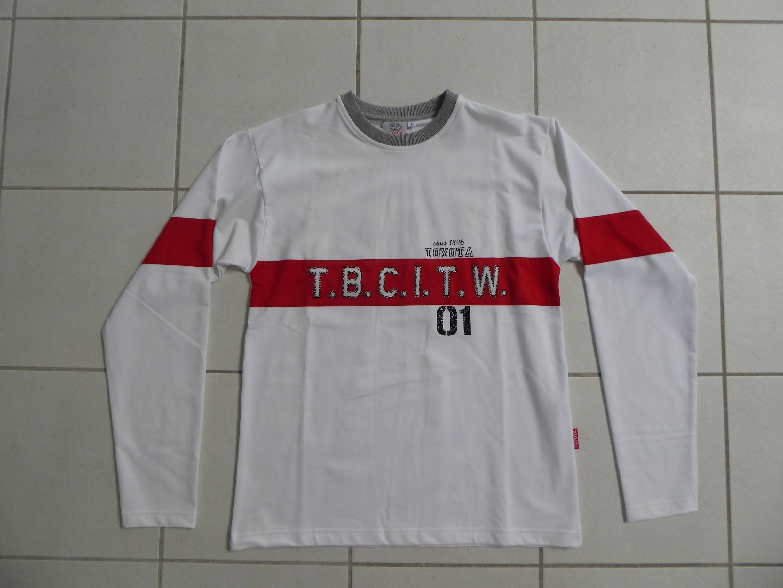 T-Shirt Langarm Weiss L BK5