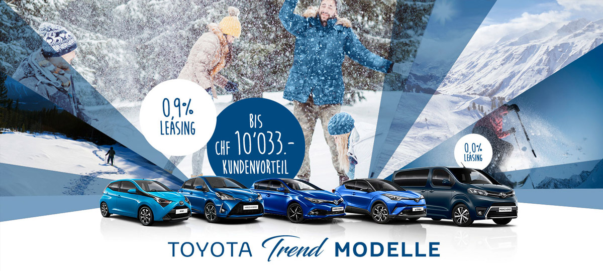 Toyota Promotion Trend Modelle